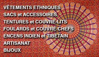 Importateur grossiste articles ethniques Inde Nepal Thailande